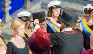 Promotionsceremoni, Stockholms stadshus, maj 2014. Foto: Ulf Sirborn.