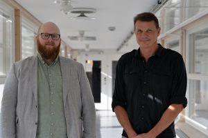 Porträtt Joel Sjöbom och Per Petersson. Foto.