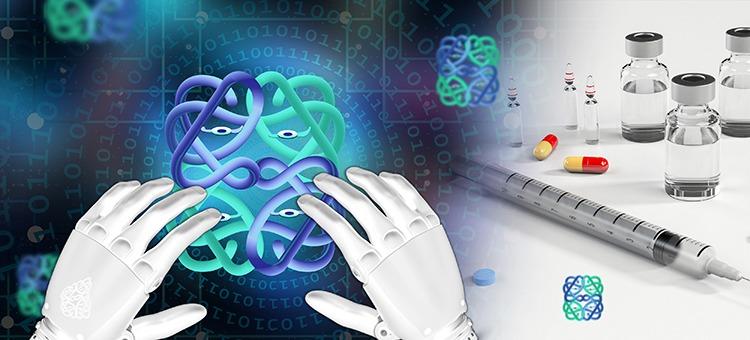 Illustration av AI-framställda proteiner.